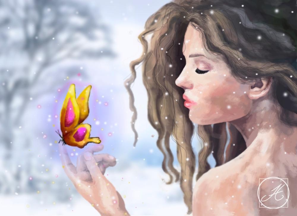 mujer-mariposa